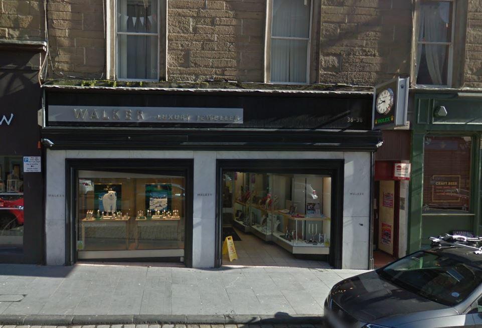 The Walkers Luxury Jewellery store in Union Street.