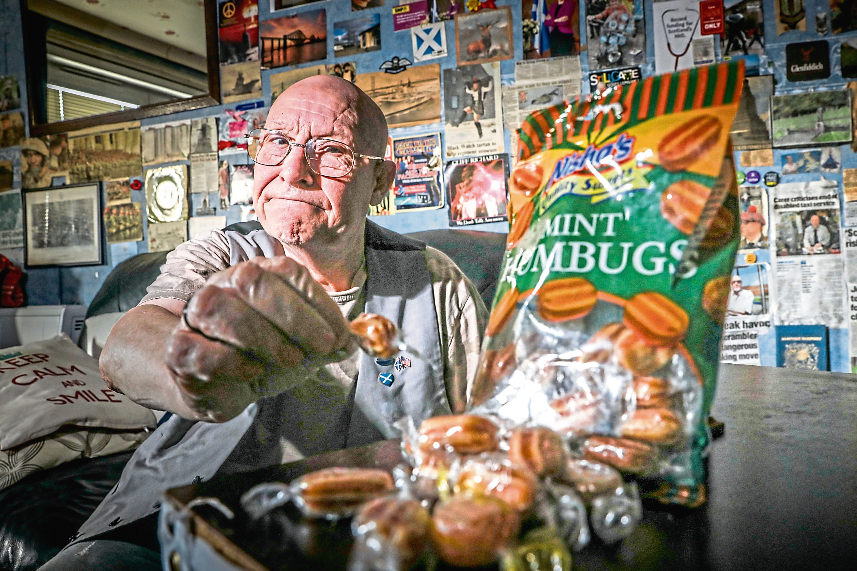 John Bissett, of Ardler, has declared he is boycotting Humbug sweets following the prime minister's remarks at Westminster last week.