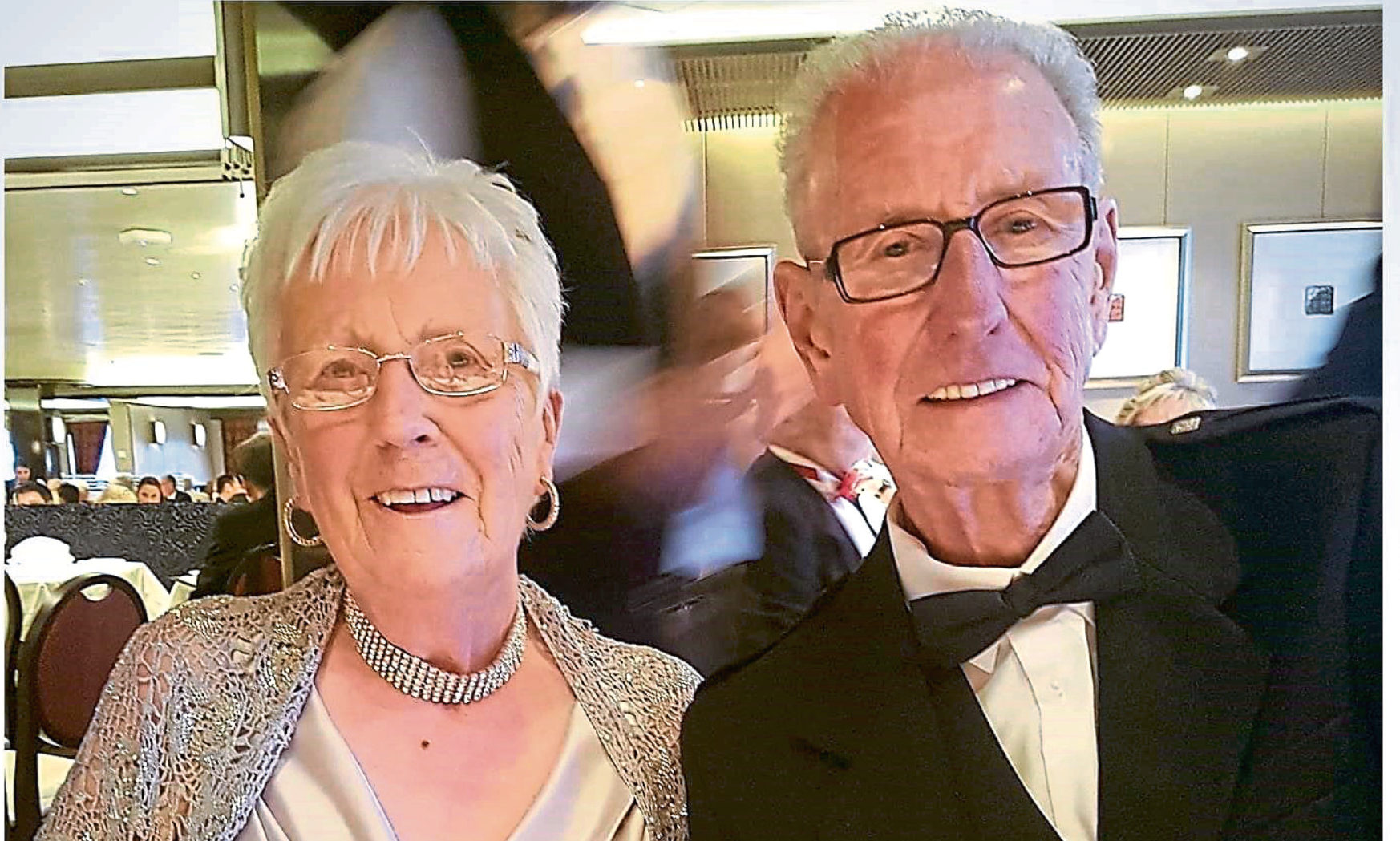 Bill Anderson of Broughty Ferry School of Motoring with his wife Norma.