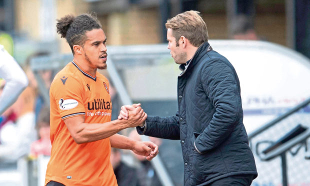 Troy Brown with gaffer Robbie Neilson.