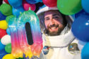 Spaceman, aka science communicator Lewis Fitzsimmons, prepares for the festival.