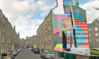 A mock-up of how the gable end mural in Cardean Street would look.