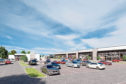 A computer generated image of the proposed retail park in Arbroath.