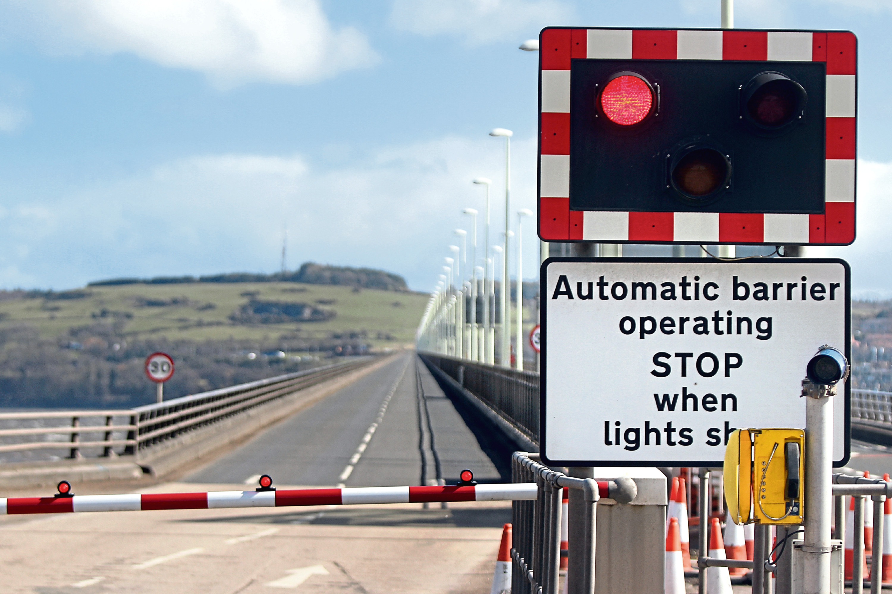 The Tay Road Bridge regularly closes when there is concern for individuals walking across it.