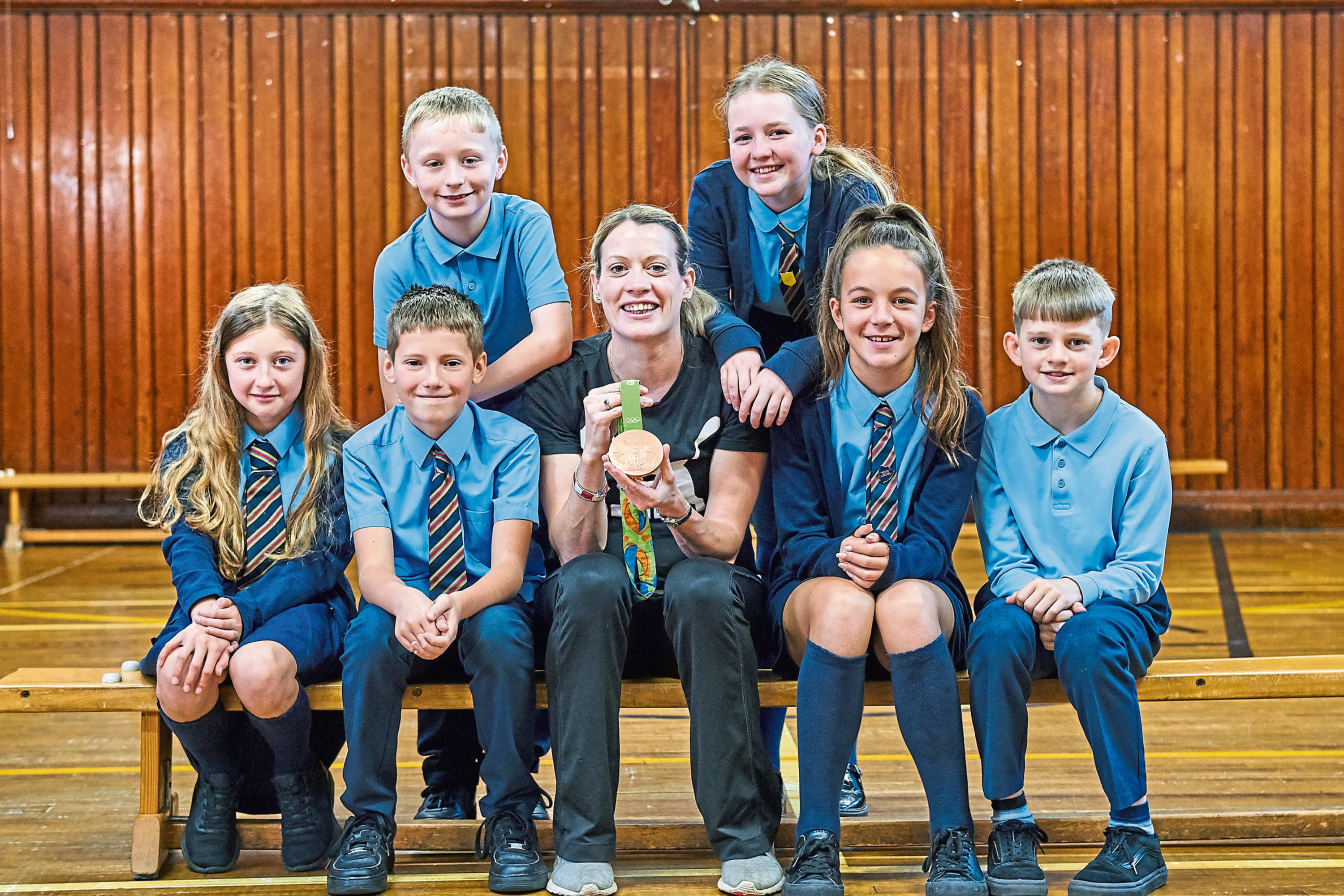 Team GB Athlete, Eilidh Doyle, at St Mary's RC Primary School.