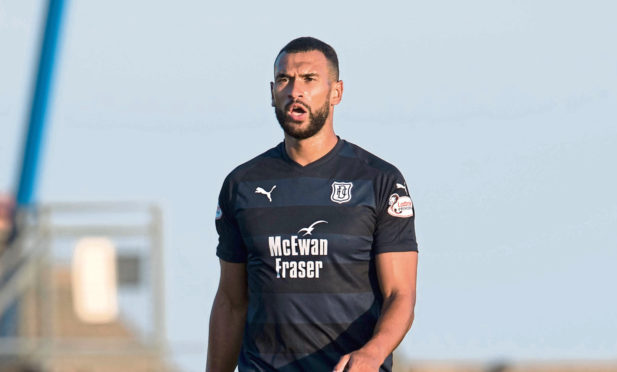 Steven Caulker in action for Dundee