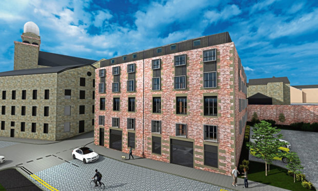A 3D impression of what the new flats at the re-developed Lower Dens Works mill would look like.
