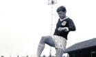 Alex Stuart as a Dundee player.