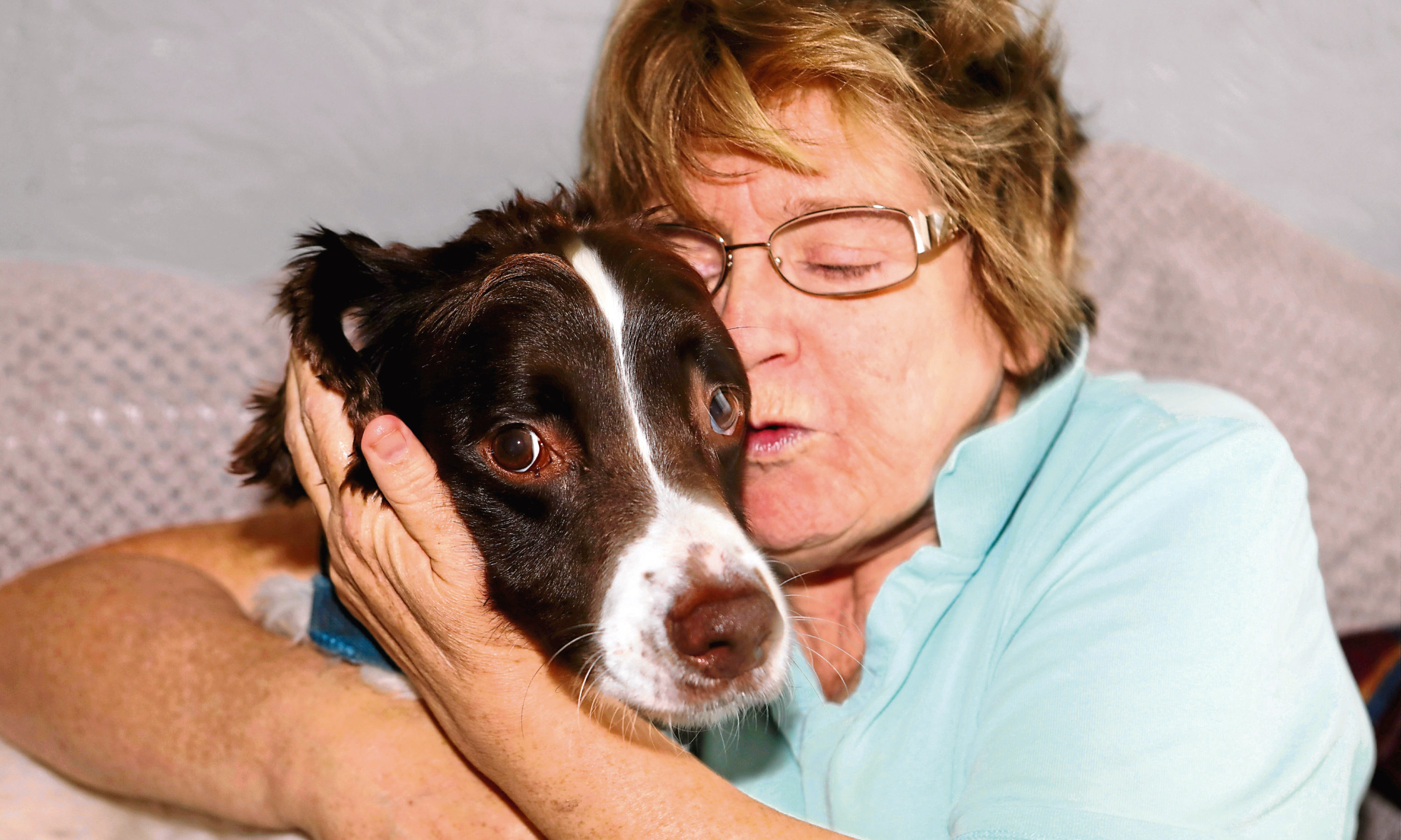Mary, 60, with six-year-old Murphy.