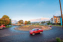 Picture of roundabout on Coupar Angus Road, Lochee.