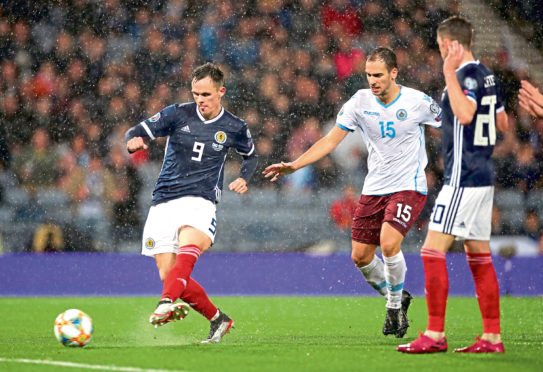 Shankland scored for his country against San Marino in October, as the Scots romped home 6-0.
