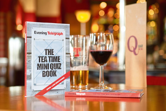 The bar with Tele Quiz Book at the Queens Hotel.