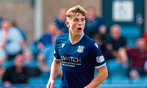 Finlay Robertson in action for Dundee.