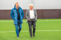 Stephen Wright, head of academy at Dundee, with Gordon Strachan, the club's technical director.
