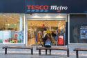 The Tesco Metro store in the Murraygate.