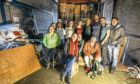 The volunteers who were loading the shipping container bound for Lesbos.