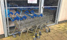 The trolleys were recovered by staff at the student accommodation.