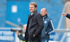 Robbie Neilson looks pained as United had four goals put past them against Queen Of The South.