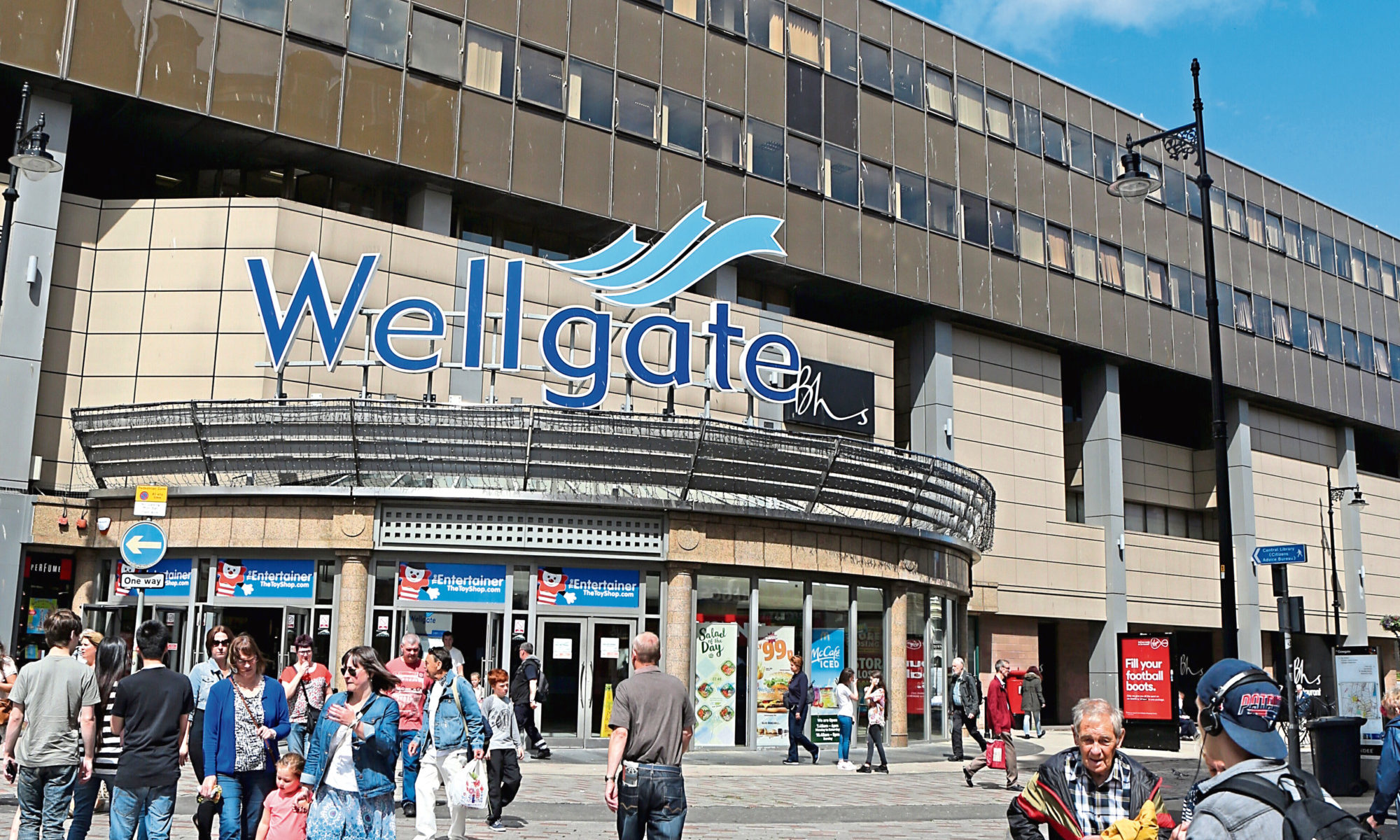 The offences took place in the Wellgate Centre.