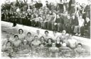 The swimmers and supporters during the 1977 event.