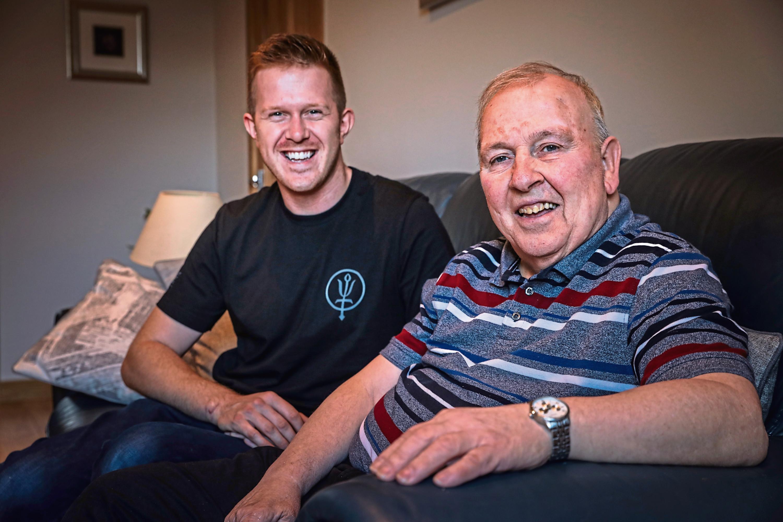 Paul Grogan with dad Kenny.
