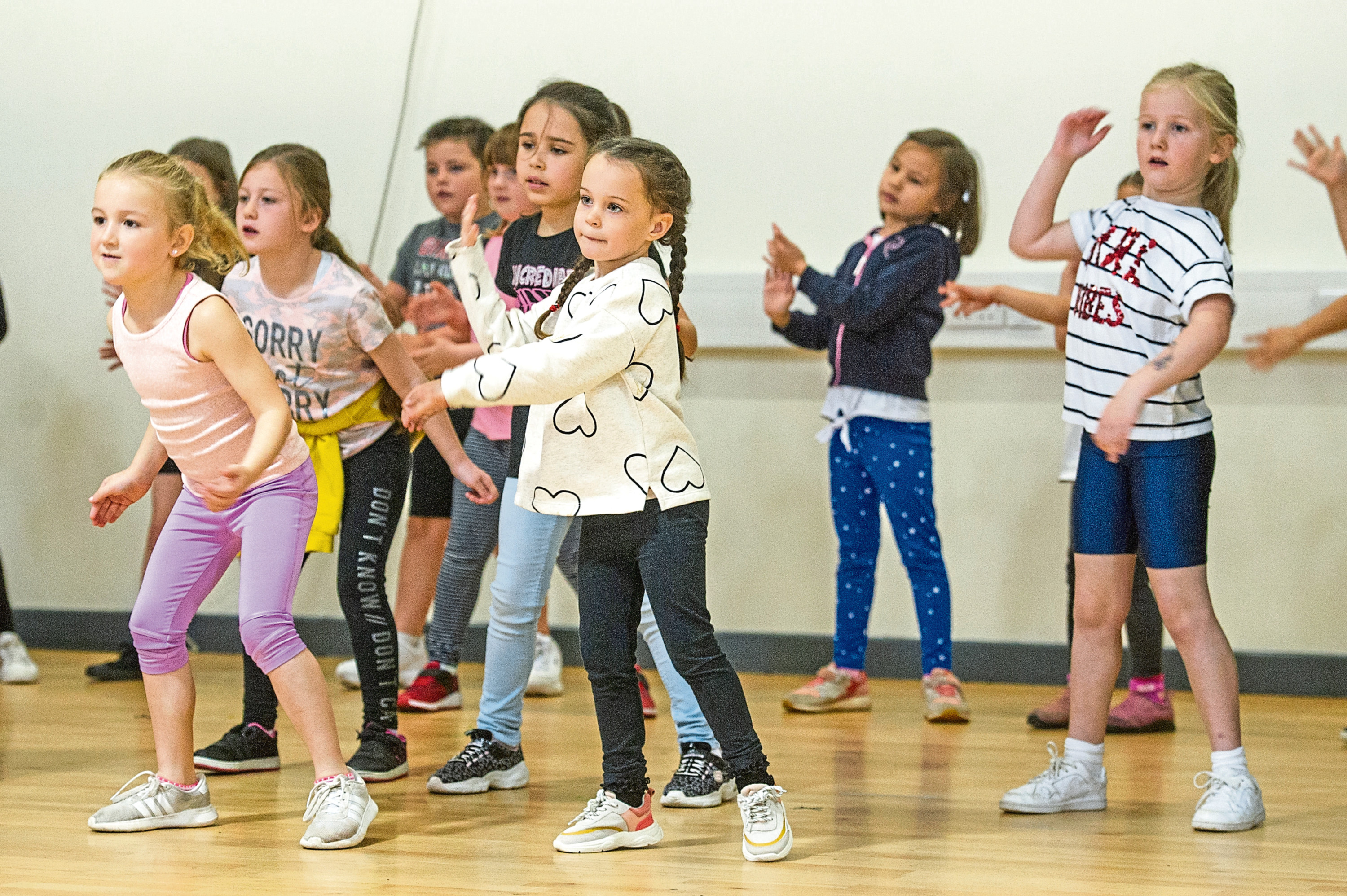 Telegraph News - Dundee - Amy Hall story; CR0015332 Take images of the dancers at the Urban Moves October Camp. Picture Shows; some of the dancers who are participating in the October Camp, St Pauls Swim and Sports Centre, Gillburn Road, Dundee, 16th October 2019. Pic by Kim Cessford / DCT Media