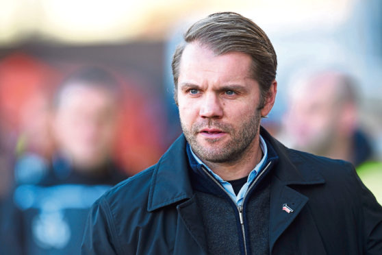 Dundee United manager Robbie Neilson.