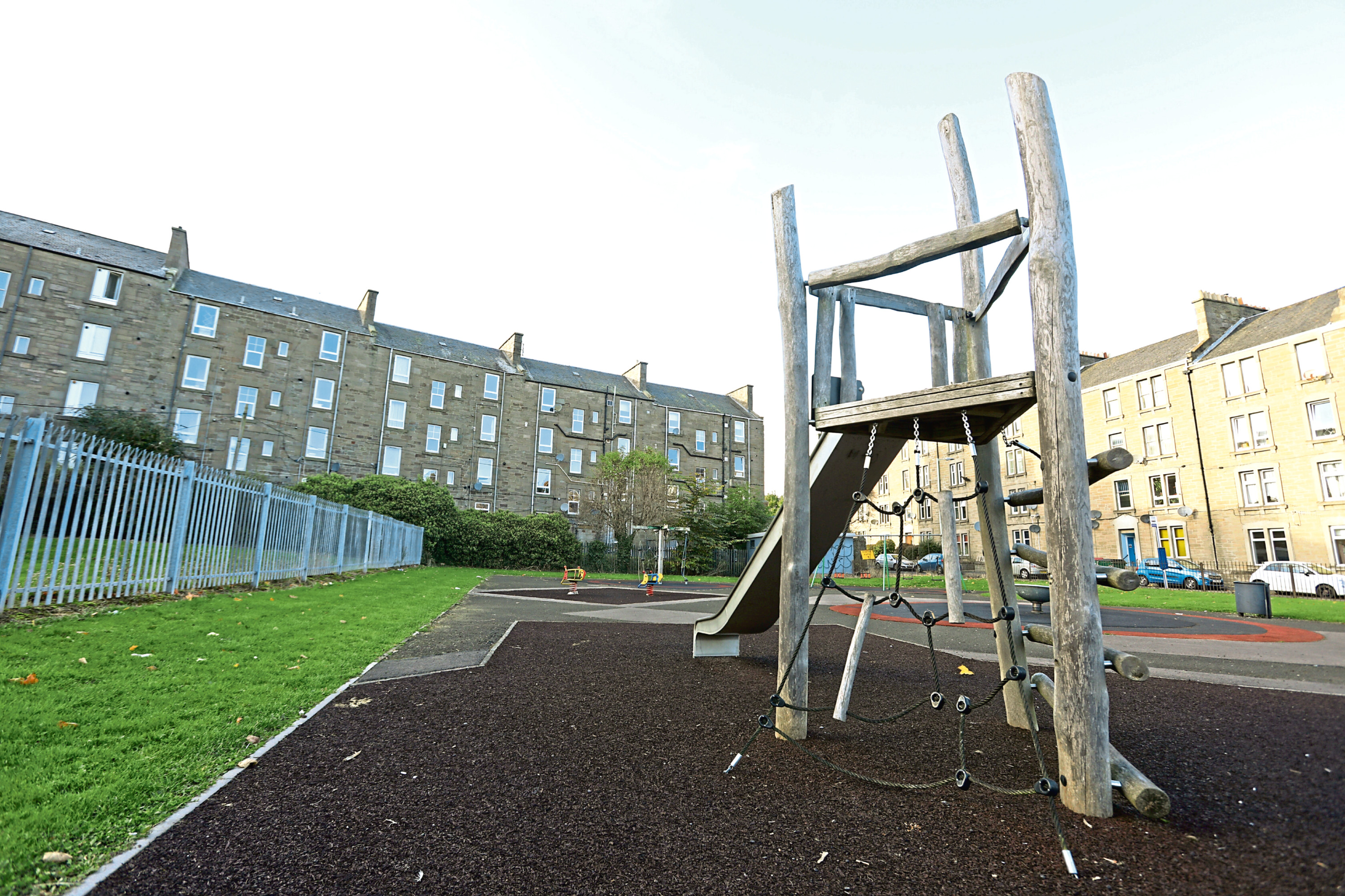 The Milnbank Road playpark is set to get a makeover at the start of next year.