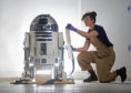The R2-D2 model which is going on display at V&A Dundee.