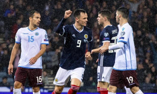 Lawrence Shankland after scoring against San Marino.