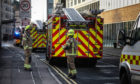 Emergency services at the scene of the chemical scare.