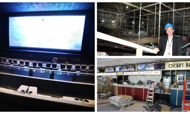 Work taking place on Odeon Dundee.