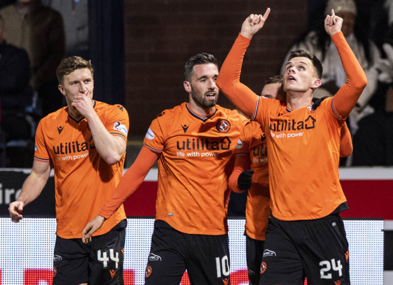 Shankland celebrates after bagging yet another goal, taking his season tally to 20 in all competitions.