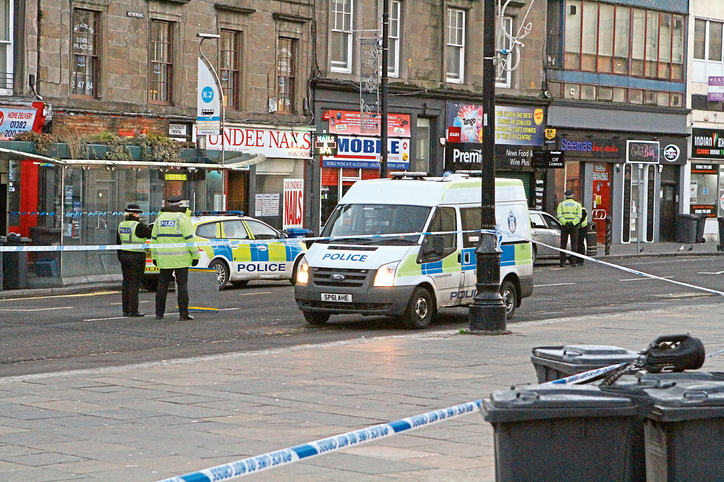Police activity on the Nethergate in Dundee.
