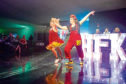Telegraph News – Dundee – Mhairi Edwards story - CR0015837 - Strictly come Prancing event. Picture Shows; Lynne and Louise perform their routine, Apex Hotel, City Quay, Dundee, 01st November 2019 – Kim Cessford / DCT Media