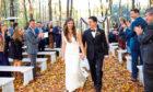 Iain Kaplan with his bride Hannah Pappenheim.