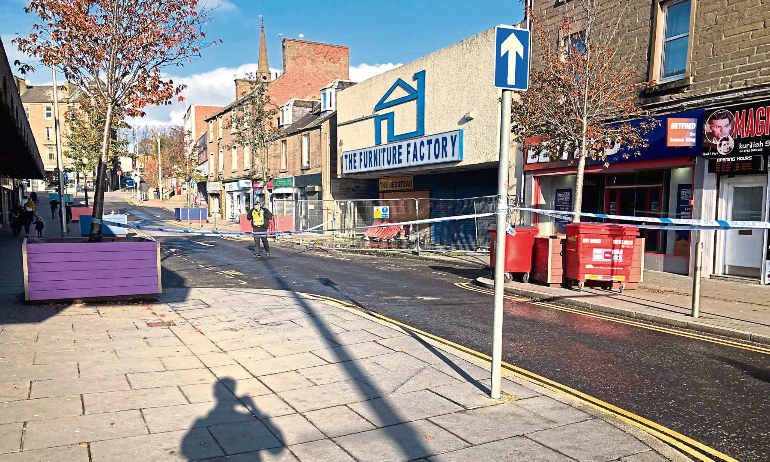 The scene of the incident on Saturday morning.