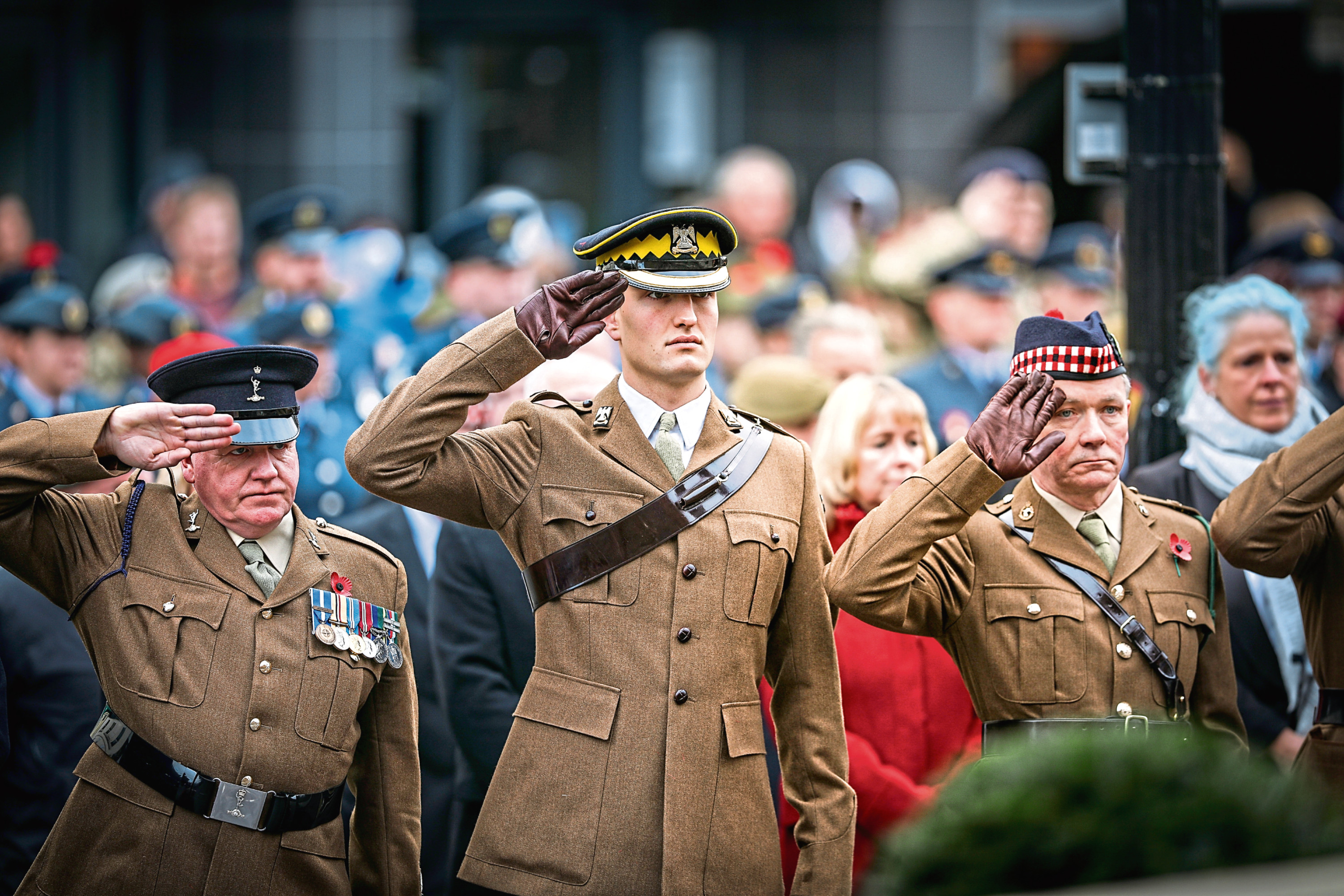Lord Provost Ian Borthwick and armed services taking part in a Remembrance Sunday ceremony in 2019.