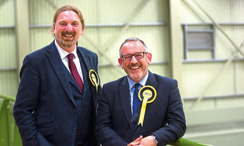 SNP candidates Stewart Hosie and Chris Law.