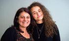 Syrian refugee Miryam Alhameed with Zabia Shiha Alsammam.