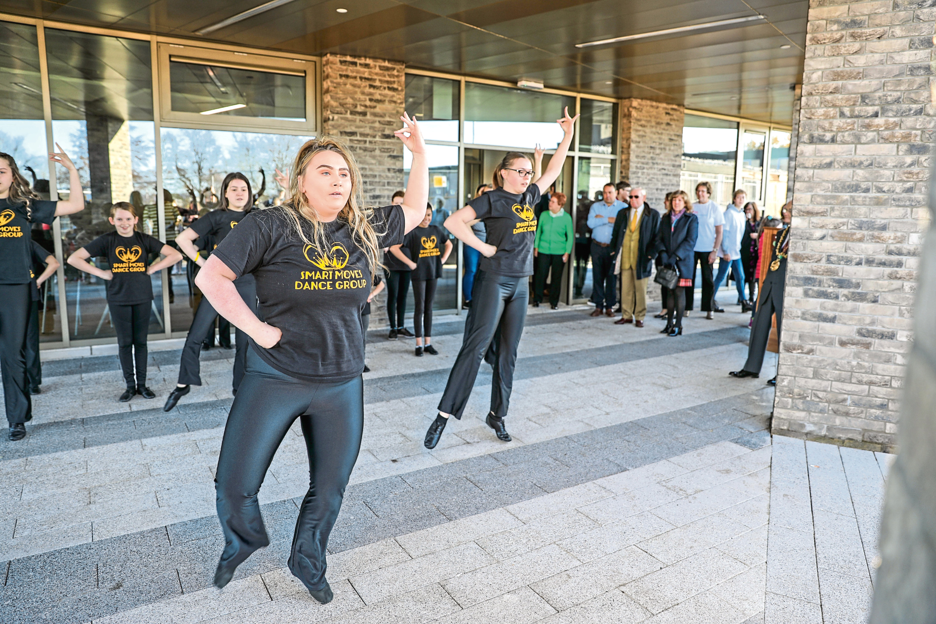 Smart Moves Dance Group perform for the opening of the new Menzieshill Community Hub.