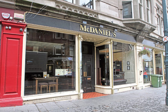 McDaniels pub in Dundee.