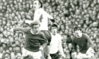 Spusr v Manchester United: Alan gets above another Scottish legend Denis Law when Manchester United played at White Hart Lane in 1971.