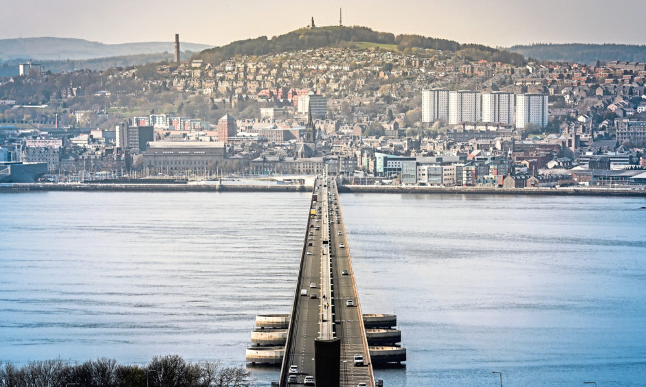 The Tay Road Bridge. (stock image).