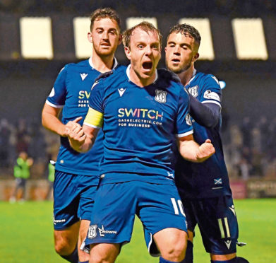 Dundee star Paul McGowan was recognised for his form this season