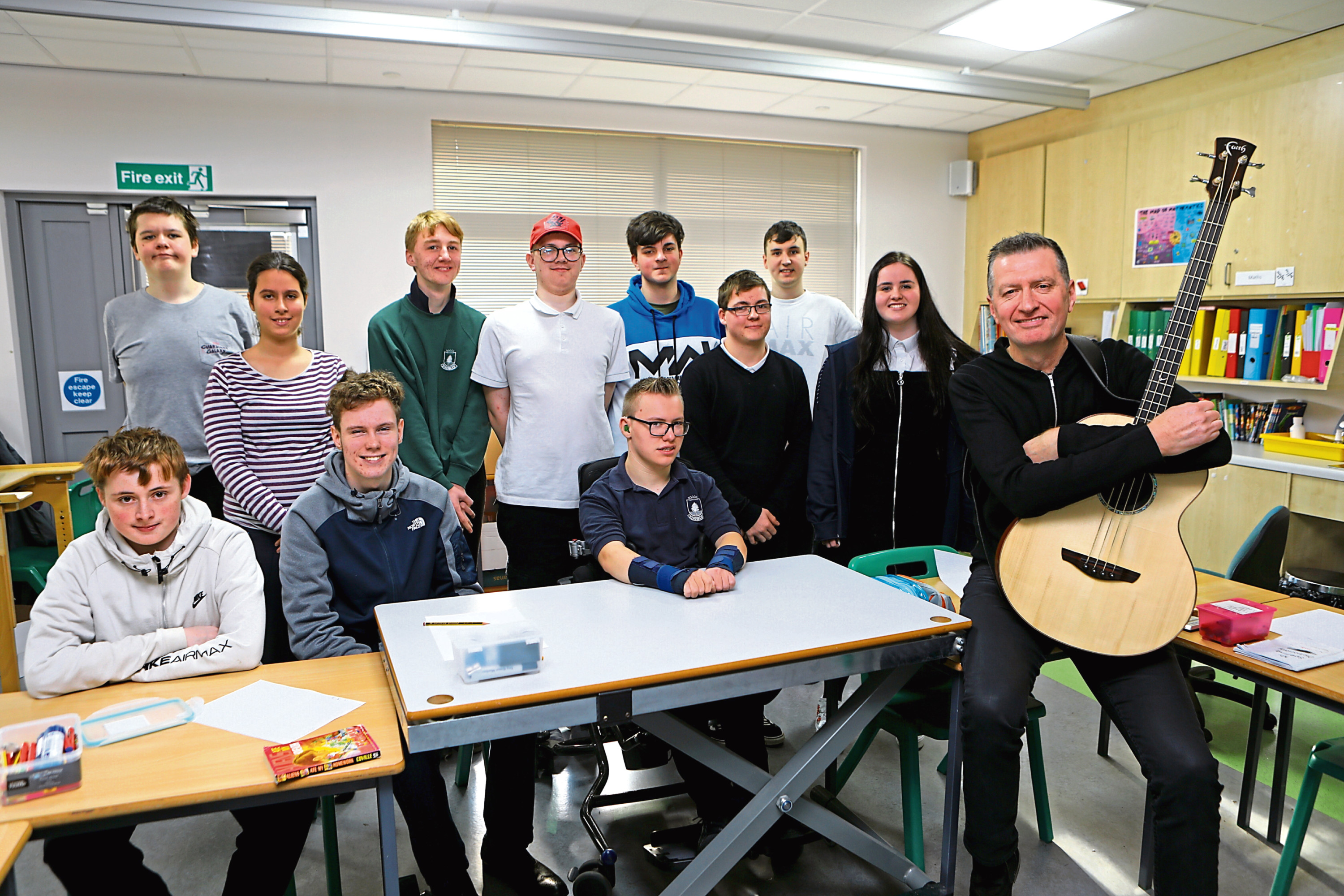 Ged Grimes, bassist from Simple Minds, chatted to senior pupils at Kingspark School.