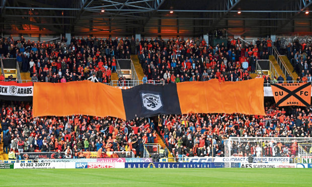 Robbie Neilson has lauded Dundee Uniteds support this season as they push for promotion back to the top-tier of Scottish football.