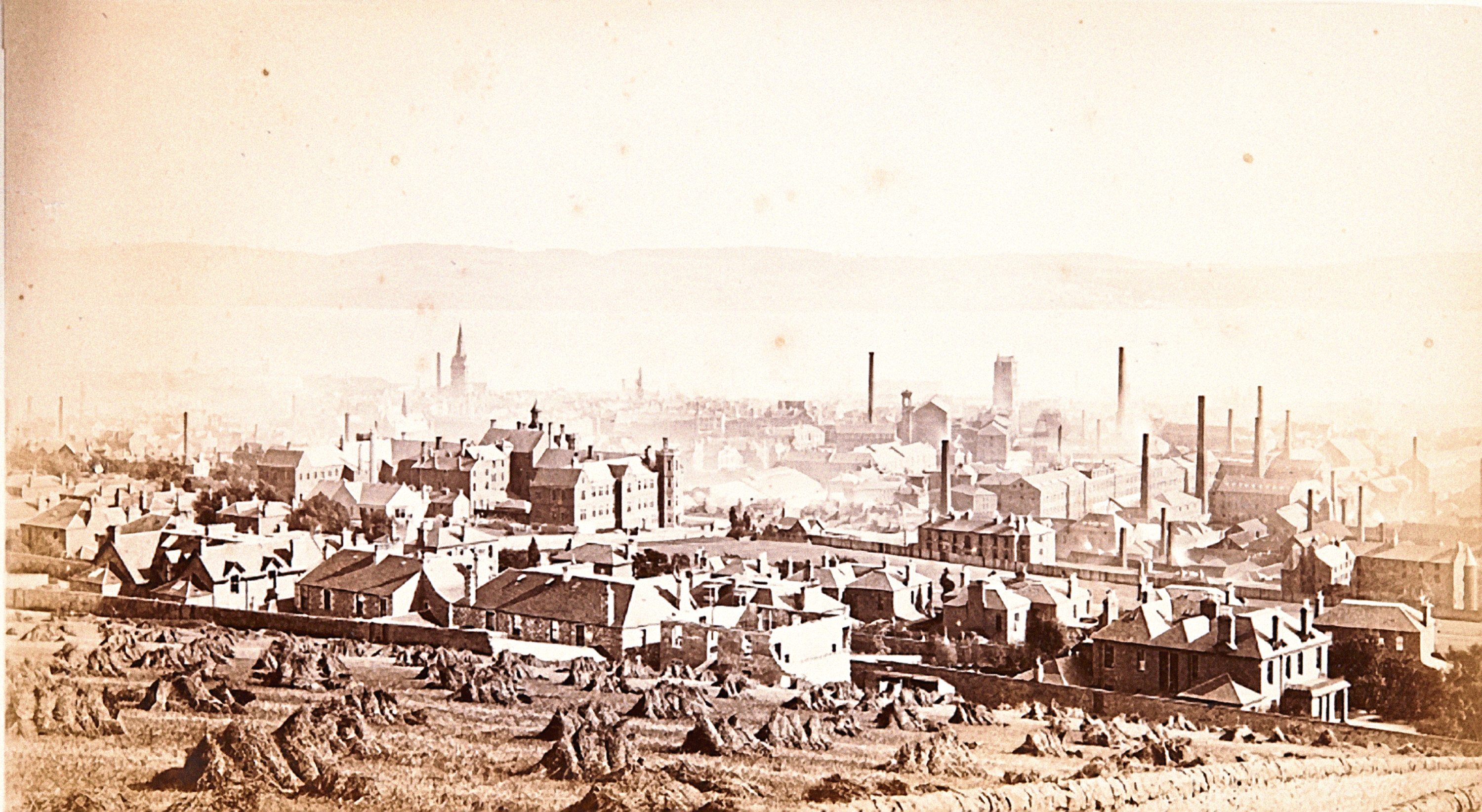 Dundee from the Law in 1880.