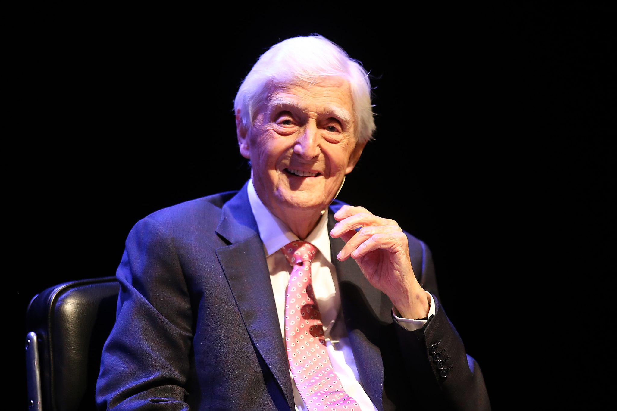 Sir Michael Parkinson at the Whitehall Theatre on Saturday.