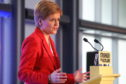 The First Minister is in Dundee today.